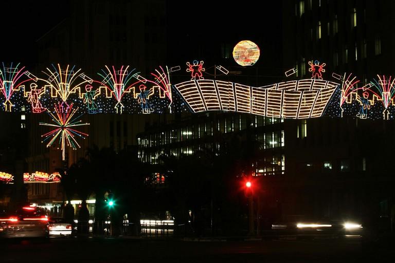 Festive lights in Adderley Street © South African Tourism/Flickr