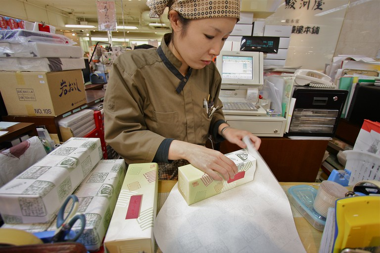Gift wrapping at the Hanshin Department Store in Osaka | © Kojach/Flickr