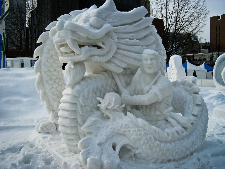 The Hong Kong team's snow sculpture at the Sapporo Snow Festival | © SteFou!/Flickr