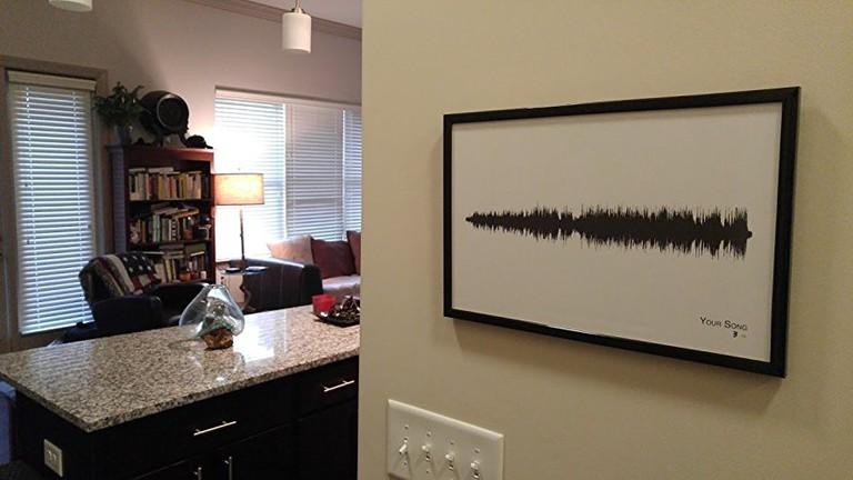 Personalized Song Soundwave Print   © Cumberland Coast
