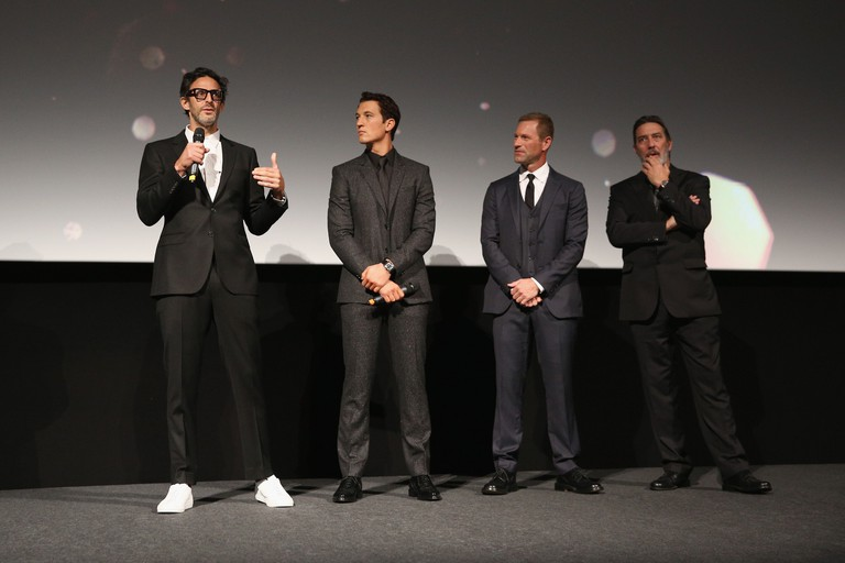 Ben Younger, Miles Teller, Aaron Eckhart and Ciaran Hinds attend the 'Bleed For This' Thrill Gala screening |© Tim P. Whitby/Getty Images for BFI