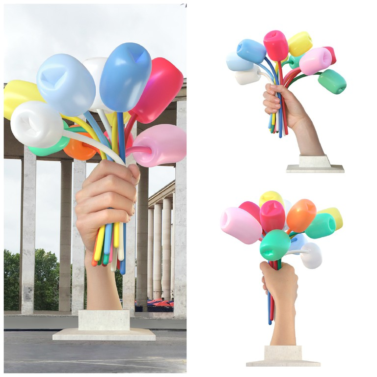 Alternative views of Bouquet of Tulips │© Jeff Koons and Courtesy of Noirmontartproduction