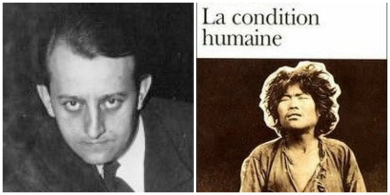 André Malraux in 1933│© Agence presse de Meurisse ; André Malraux's La Condition humaine │© Gallimard
