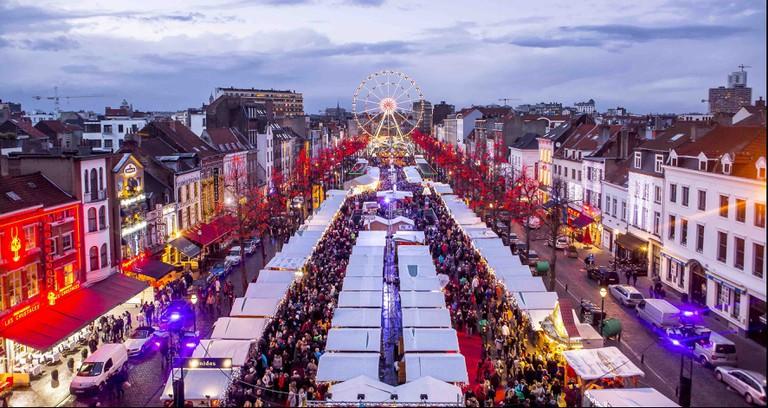 Brussels' Winter Wonders on the Vismet | © Eric Danhier / visitbrussels.be