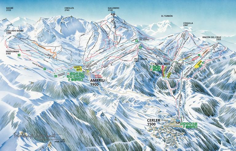 ARAMON Cerler Map   Courtesy of Aramon Cerler