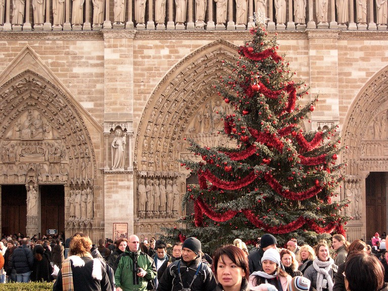 Christmas tree at Notre-Dame │© Ben Askins