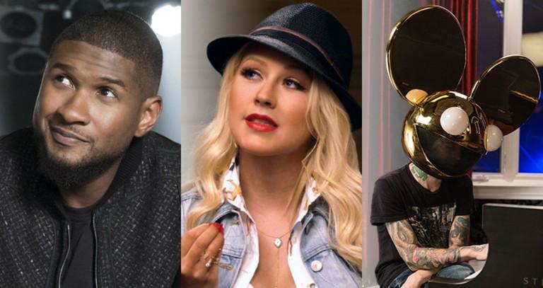 MasterClass tutors Usher, Christina Aguilera, and Deadmau5   © MasterClass