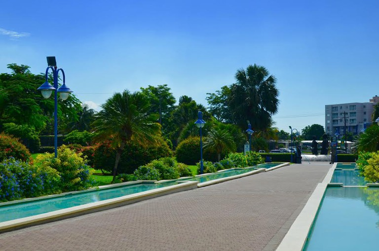 Emancipation Park, Kingston, Jamaica.  © Caribbean Cables