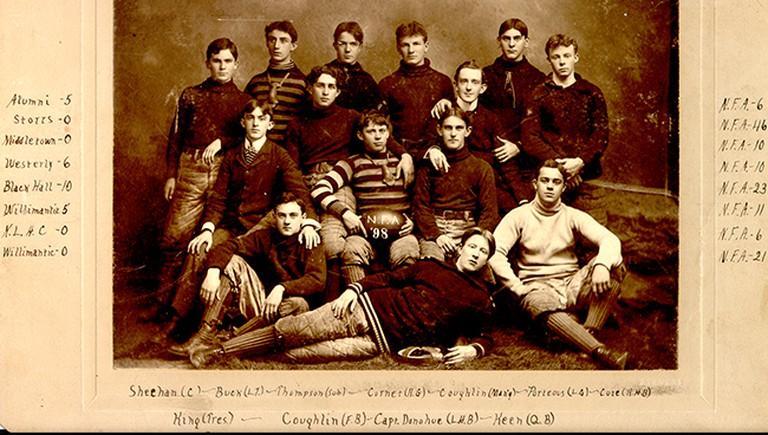The 1898 Norwich Free Academy Football team | © Norwich Free Academy