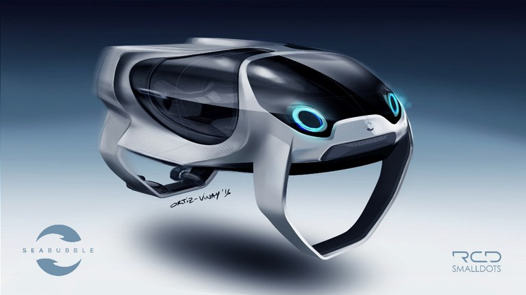 Front view of a SeaBubbles │© SeaBubbles