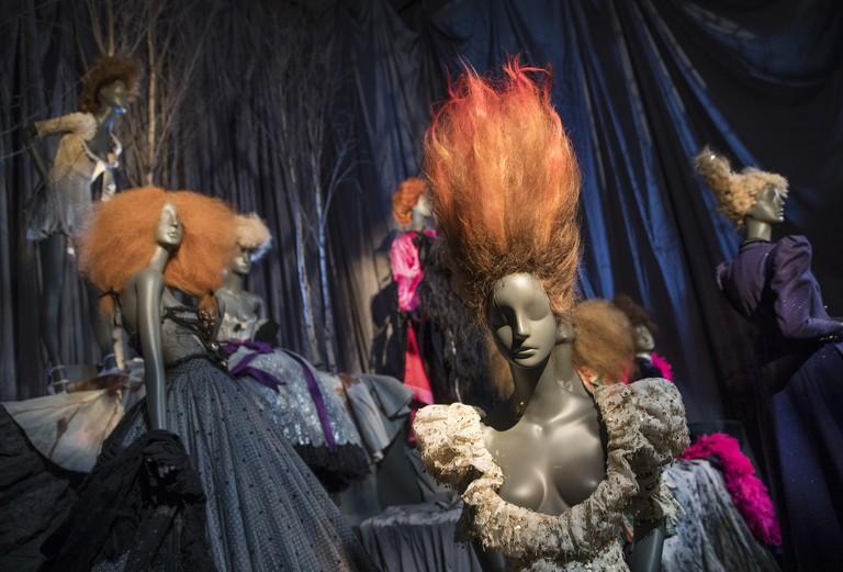 Display of mannequins dressed in Vivienne Westwood at 'Hair by Sam McKnight'. Photo: Peter Macdiarmid