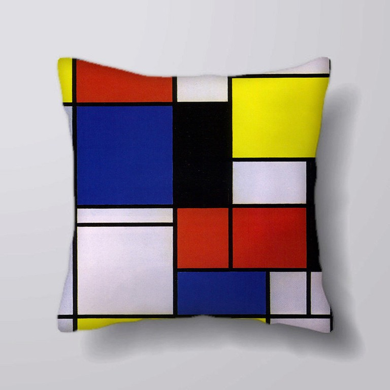 Piet Mondrian-style geometric pillowcase, via Etsy