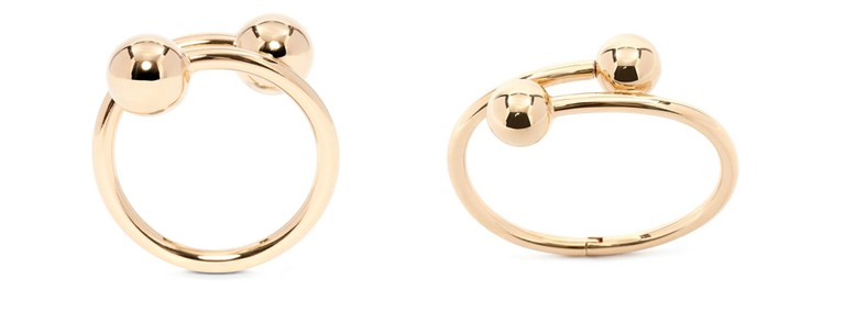 From L-R: J.W.Anderson Double Ball Bangle, £325 and Double Ball Ring, £130