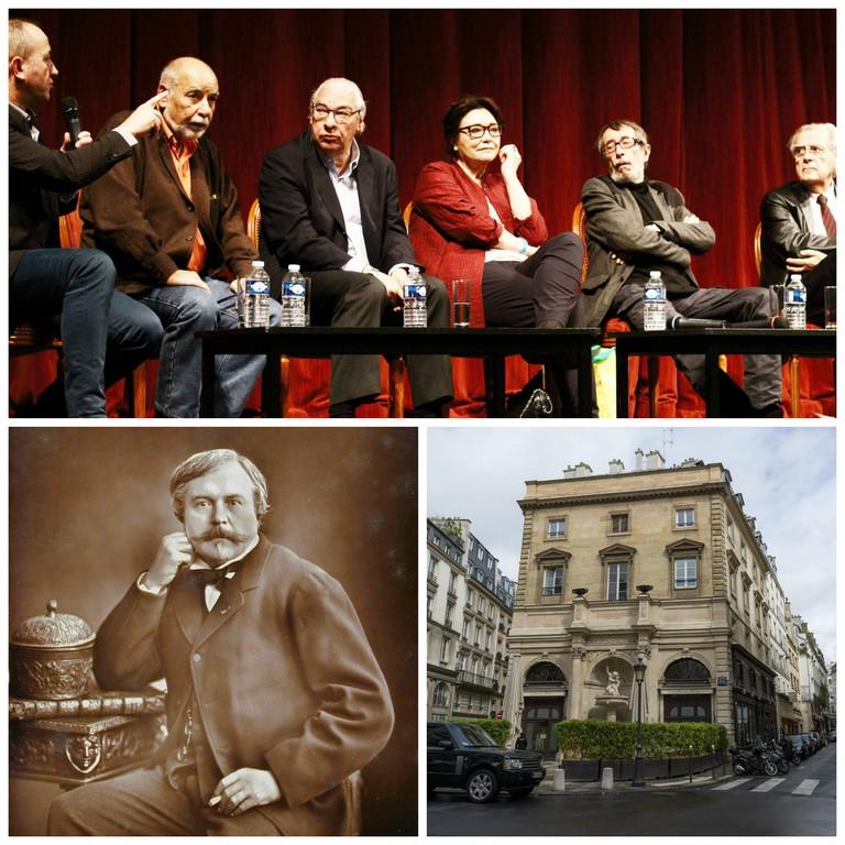 L'Académie Goncourt in 2013 © ActuaLitté | Edmond de Goncourt © Ashley Van Haeften | Drouant at Place Gaillon, Paris © Edsel Little