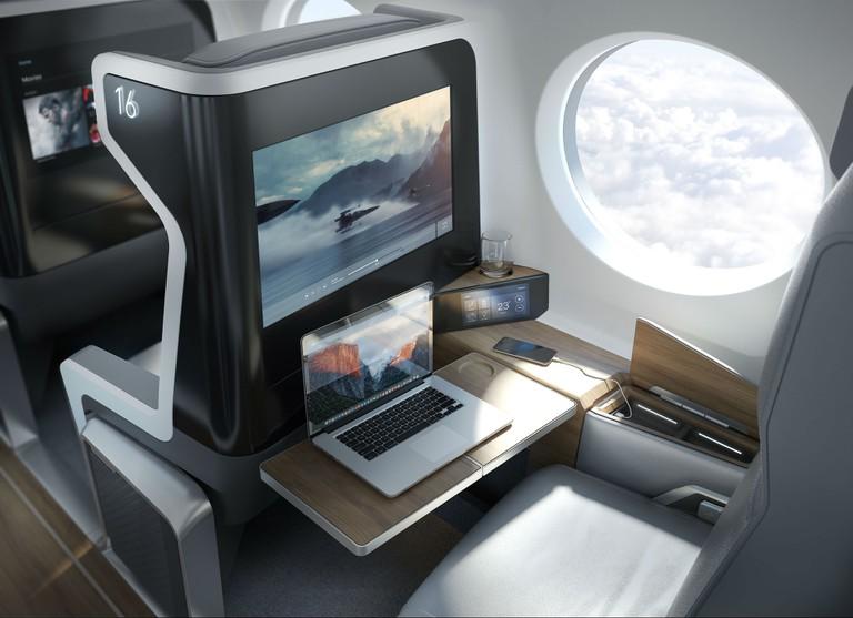 The proposed interior of the plane. | Courtesy Boom.
