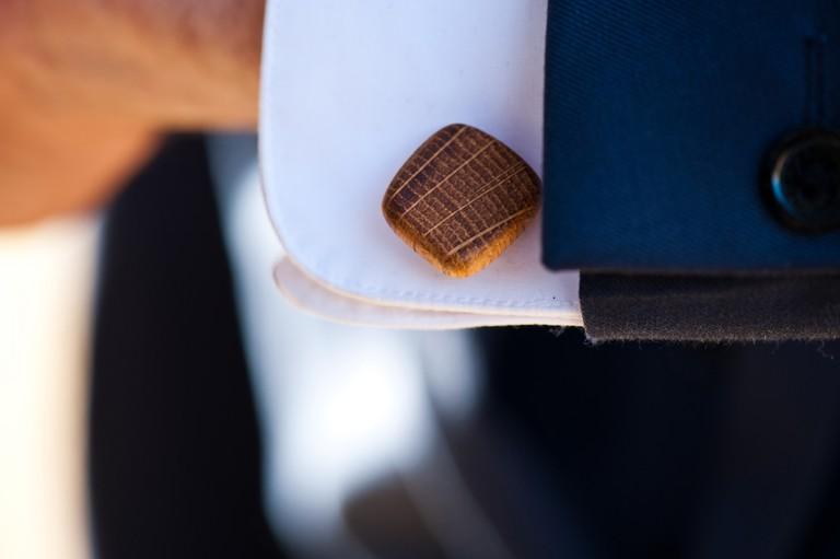 Irish whiskey barrel cuff links   Courtesy of Whiskey Wood Craft