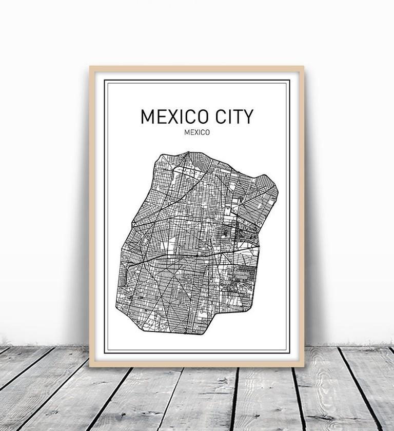 Mexico Map | © amazon.com