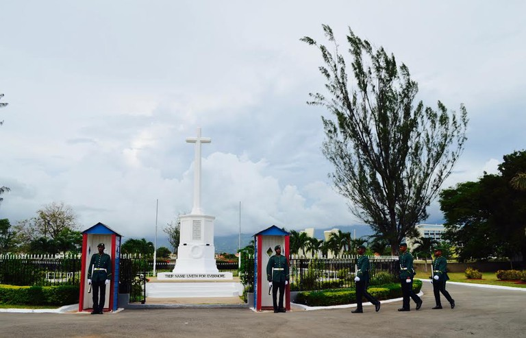 National Heroes Park, Kingston. Changing of the Guard at the Cenotaph   © Caribbean Cables