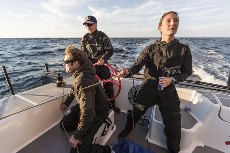 Jimmy Spithill, Tommy Loughborough and Emily Nagel. © Red Bull Media House
