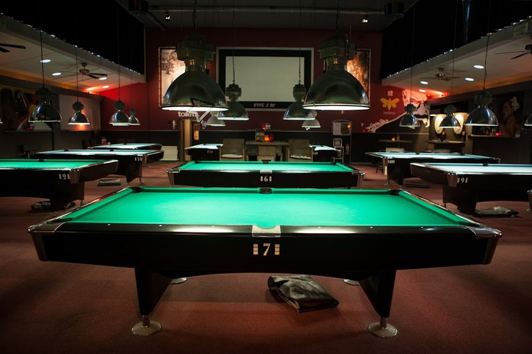Plan B's pool tables | © Arno Krol/360promotion.nl