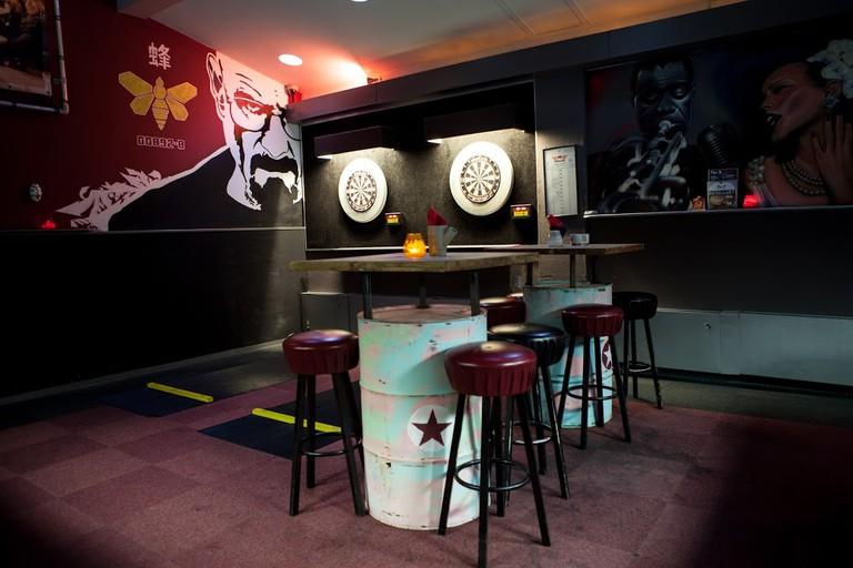 Plan B's dartboards   © Arno Krol / 360promotion.nl