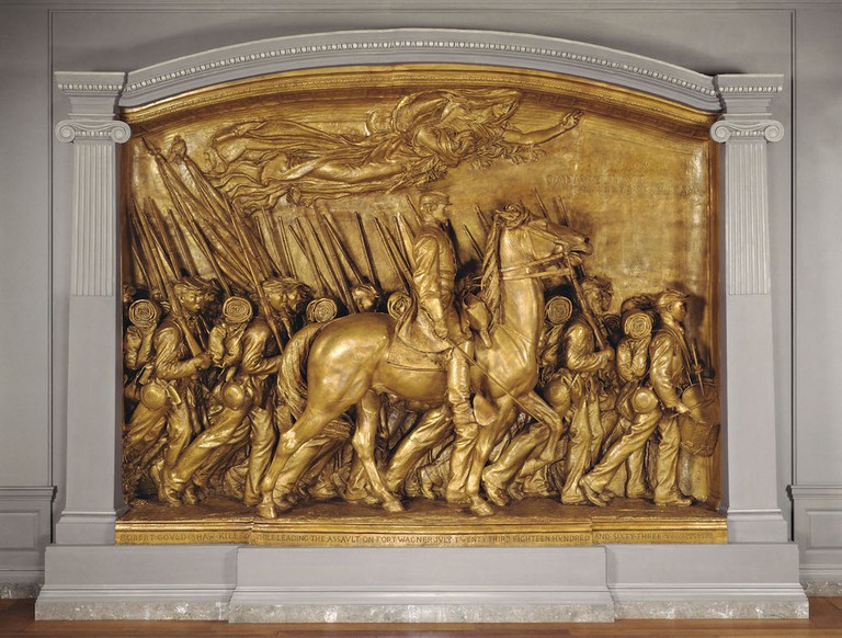 The bronze memorial commemorates the Massachusetts 54th infantry ©Courtesy of National Gallery of Art