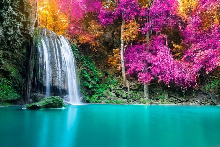 Waterfall in autumn forest at Erawan waterfall National Park, Thailand ©Totojang1977 / Shutterstock
