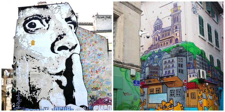 Street art in Paris │© Anthony-X ; Street art in Marseille │© lionnela