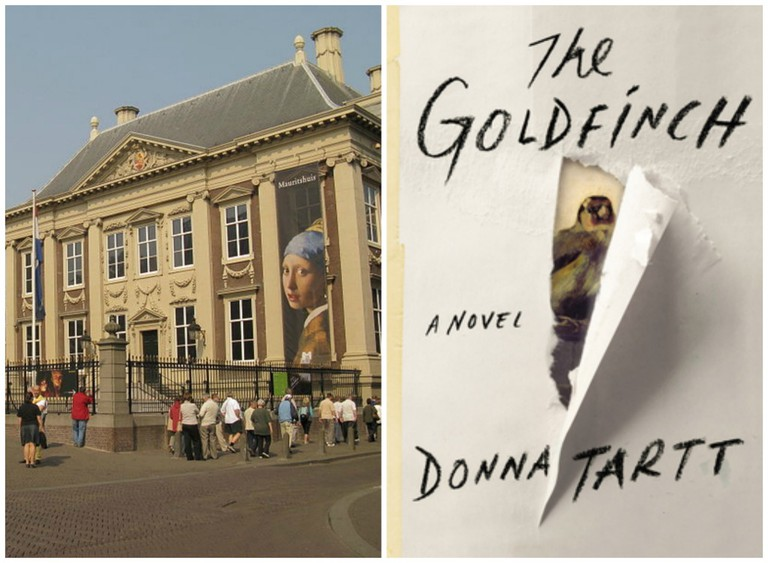 Royal Picture Gallery Mauritshuis | © WikiCommons // 'The Goldfinch' By Donna Tart Book Cover | © WikiCommons