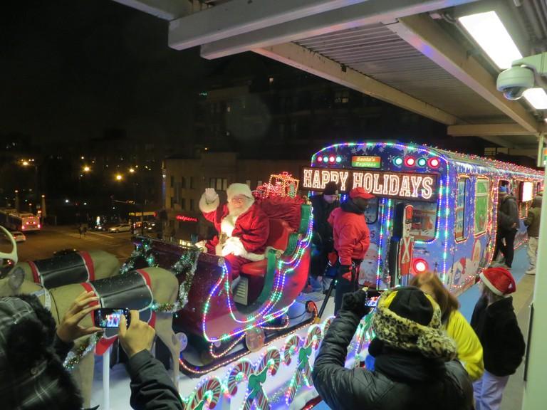 The CTA Holiday Train, courtesy of WikiCommons