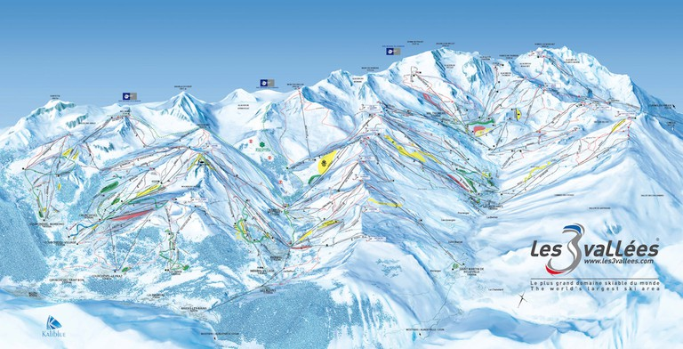 The 3 Valleys Map   © Les 3 Vallees