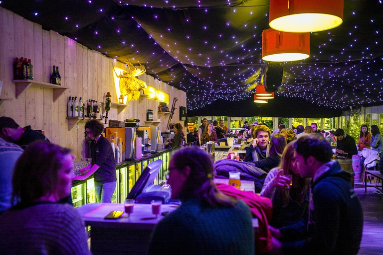 The cozy Moose Bar at Ghent's Christmas Market | Courtesy of VisitGent