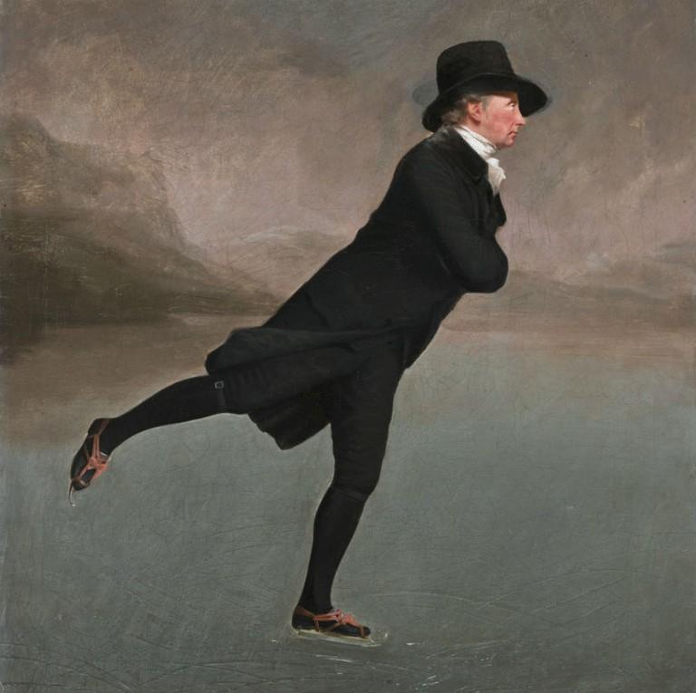 Revd. Robert Walker Skating On Duddingston Loch By Sir Henry Raeburn | © WikiCommons