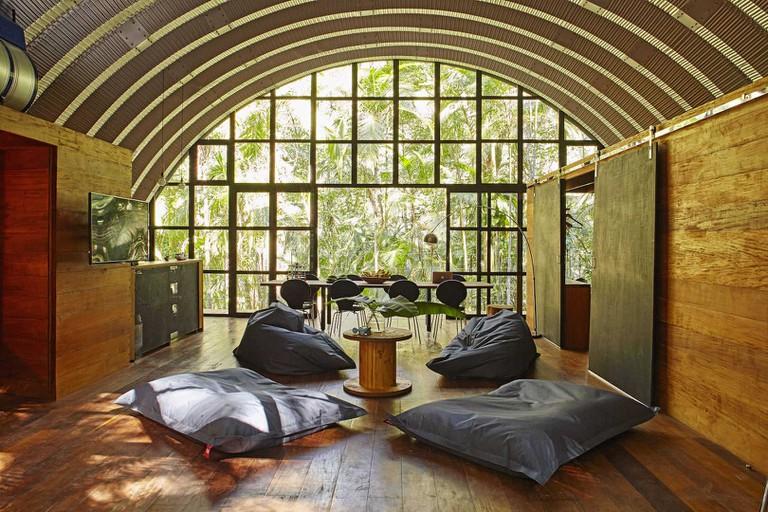 Arched interior