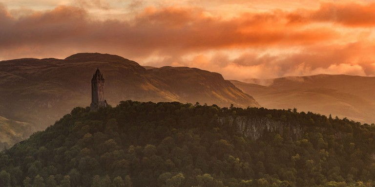 Wallace Monument In Stirling