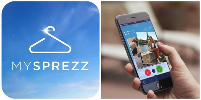 MySprezz logo and app │ Courtesy of MySprezz