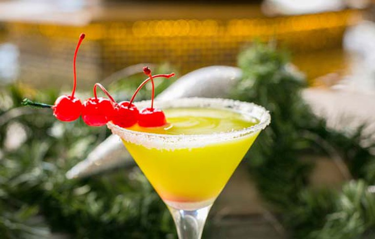 The Pelican Bar's Grinch-a-rita cocktail, courtesy of The Pelican Bar & Restaurant.