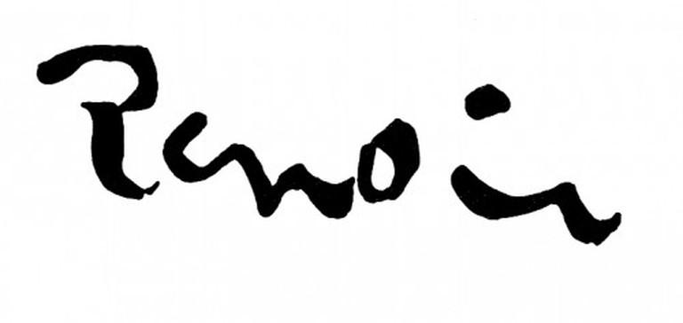 Pierre-Auguste Renoir's Signature