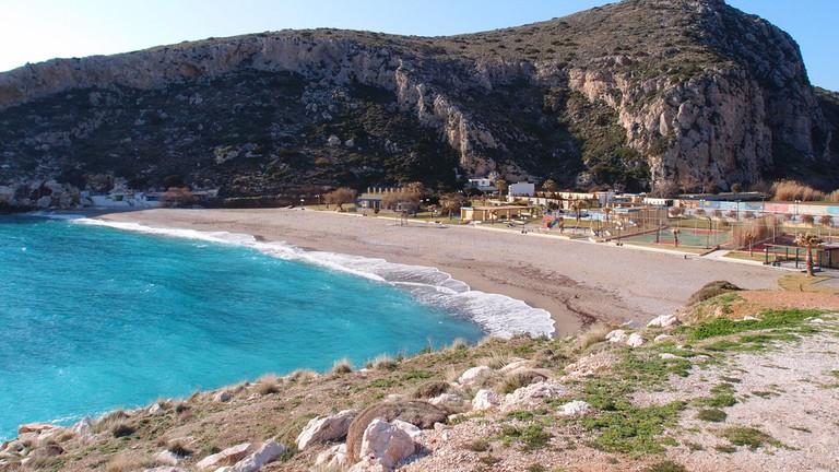 Kakia thalassa beach, Attica Greece │© fab drone/Shutterstock