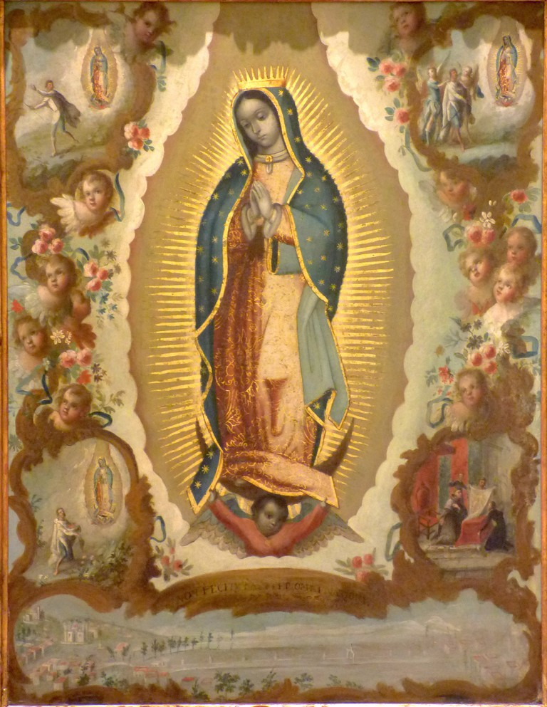 Virgen de Guadalupe con las cuatro apariciones, Sáenz   © Luizalvaz/WikiCommons