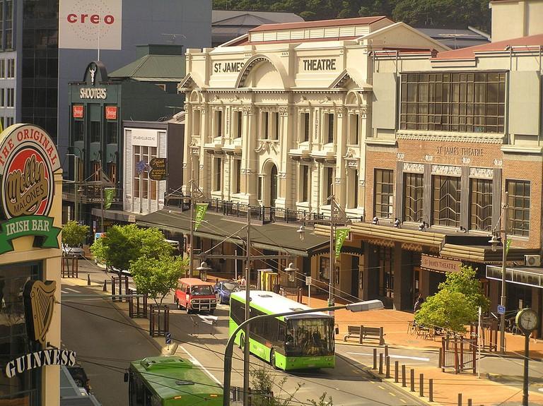 Courtenay Place, Wellington   © Wikimedia Commons