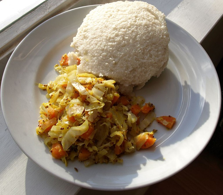 Ugali with cabbage | WikiCommons