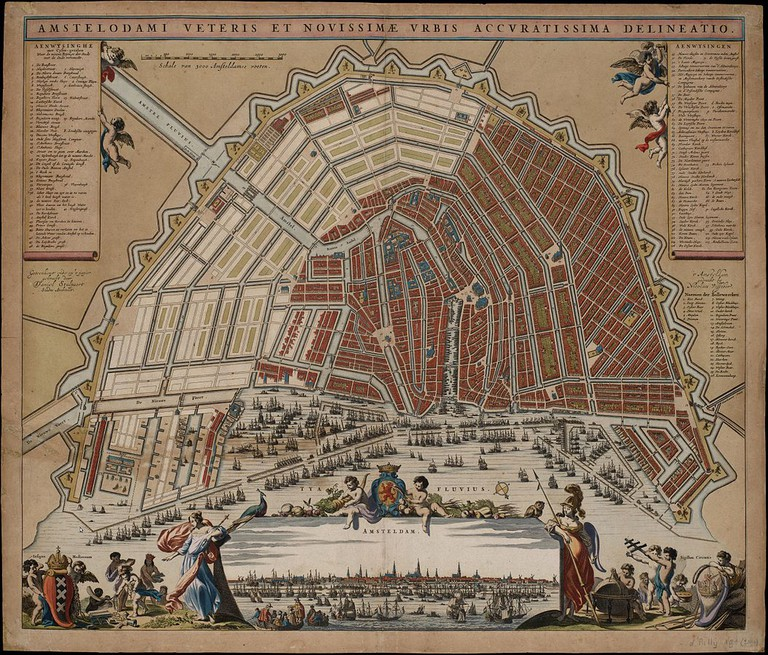 A map of Amsteram's canals from 1662 | © Daniel Stalpaert / WikiCommons
