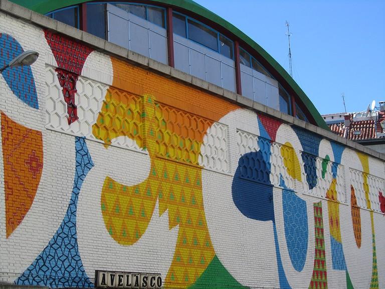 The Cebada market has some solid street art | © Marta Nimeva Nimevien/Flickr