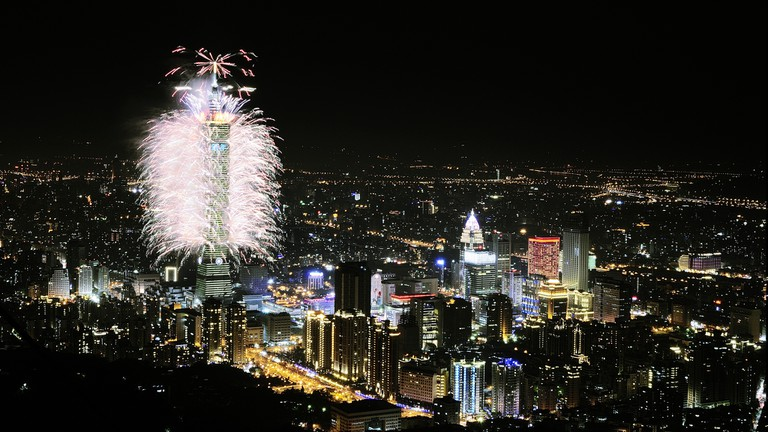 2014 New Year's Eve Fireworks | © Sinchen.Lin / Flickr
