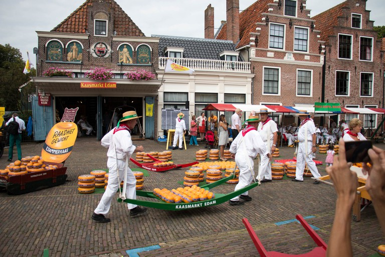 The cheese market in Edam   © Philip Cotsford/Flickr