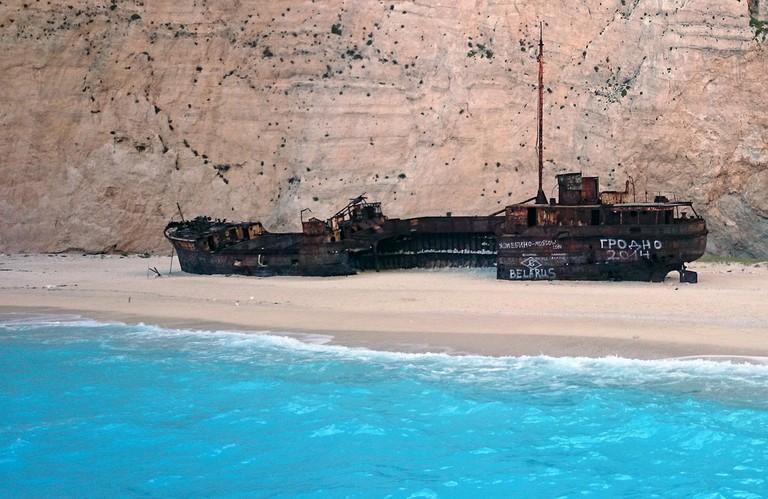 Navagio (Shipwreck) beach | © Steve N/Flickr