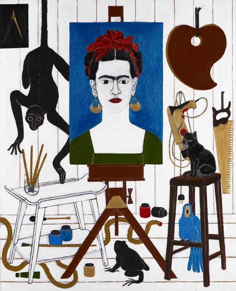 Abe Odedinda, 'The Adoration of Frida Part II', 2013 | Acrylic on board. Courtesy of Ed Cross Fine Art