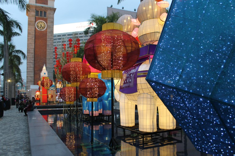 Chinese New Year lantern display at the Cultural Centre Piazza   © Ian Glen/Flickr