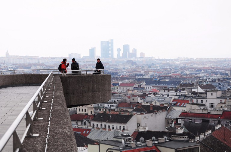 People look out from the Flak Towers | © -MIna- / Flickr